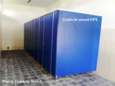 Cubicle Toilet wood HPL